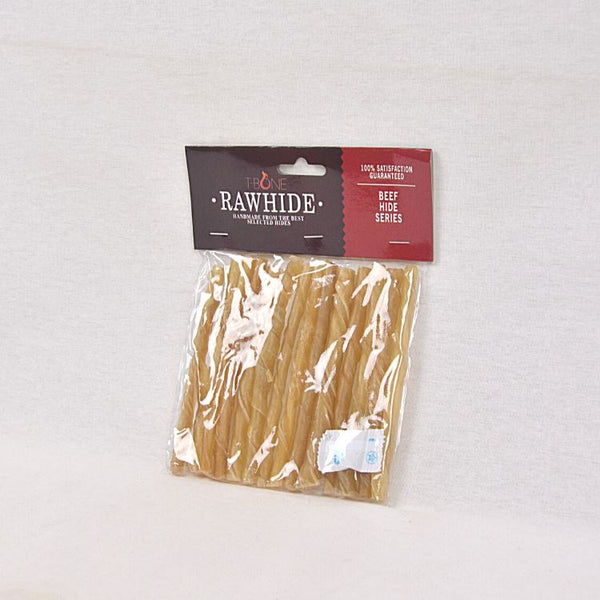 "TBONE Rawhide TTS5 Natural Twist Stick 5"" 8mm Dog Dental Chew TBone"