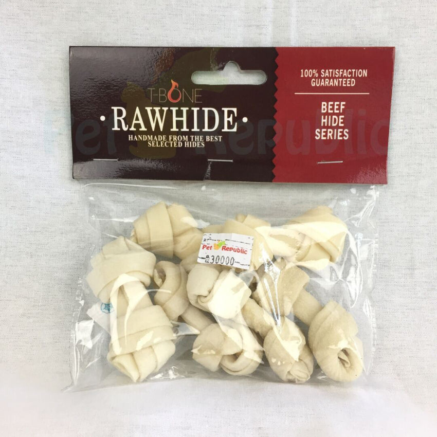 "TBONE Rawhide TWKB3 Milk Knot Bone 3"" 6pcs - Pet Republic Jakarta"