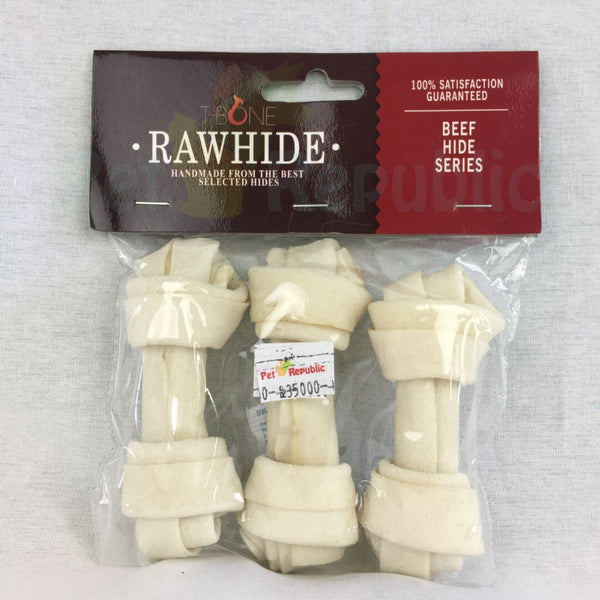 "TBONE rawhide TWKB4 Milk Knot Bone 4,5"" 3pcs - Pet Republic Jakarta"