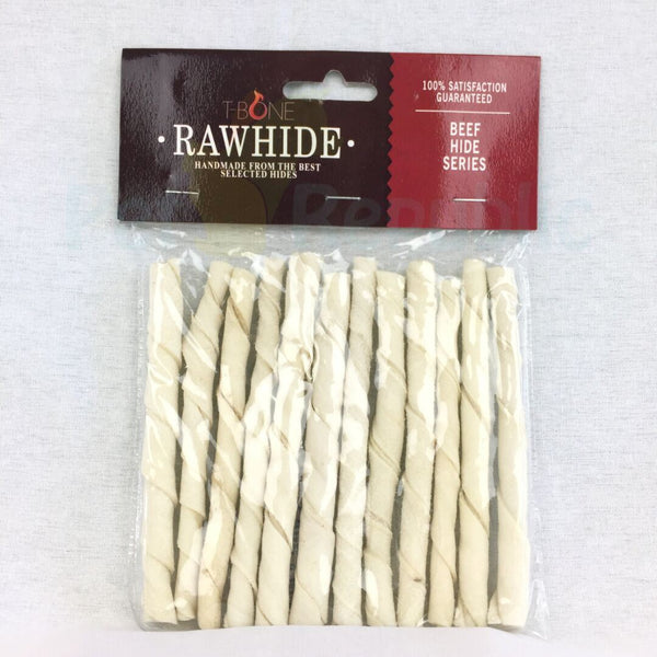 "TBONE Rawhide TWTS5 Milk Twist Stick 5"" 8mm - Pet Republic Jakarta"