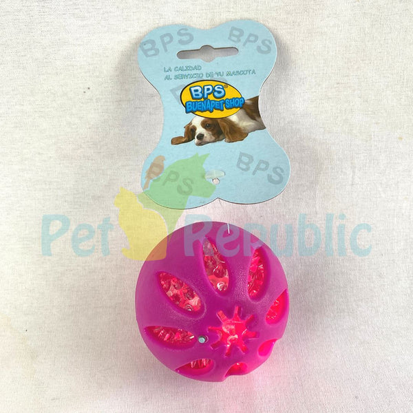 TOY890 Blinking Light Rubber Ball 8cm Dog Toy BPS