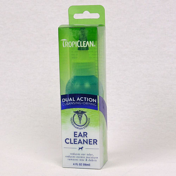 TROPICLEAN Dual Action Ear Cleaner 4oz Grooming Pet Care Tropiclean