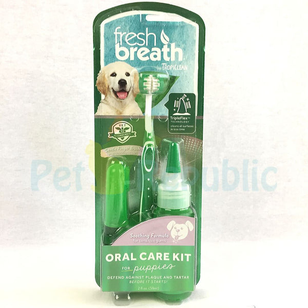 TROPICLEAN Fresh Breath Puppy Oral Care Kit - Pet Republic Jakarta