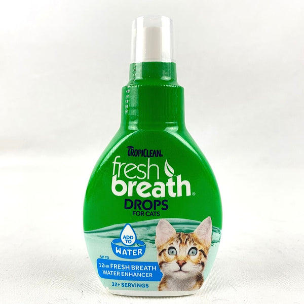 TROPICLEAN TRO771 Fresh Breath Drops for Cats 65ml Grooming Pet Care Tropiclean