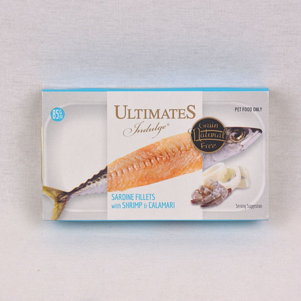 ULTIMATES Indulge Sardine Fillets With Shrimp And Calamari 85g Cat Food Wet Ultimates Indulge