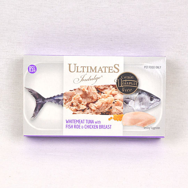 ULTIMATES Indulge White Meat Tuna With Fish Roe And Chicken Breast 85g Cat Food Wet Ultimates Indulge