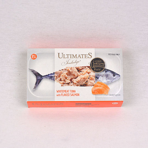 ULTIMATES Indulge White Meat Tuna With Flaked Salmon 85g Cat Food Wet Ultimates Indulge