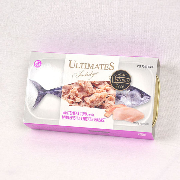 ULTIMATES Indulge White Meat Tuna With White Fish And Chicken Breast 85g Cat Food Wet Ultimates Indulge