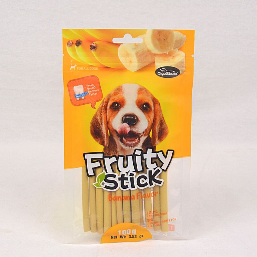 VEGEBRAND Dental Chew Fruity Stick Banana 100gr Dog Dental Chew Endi