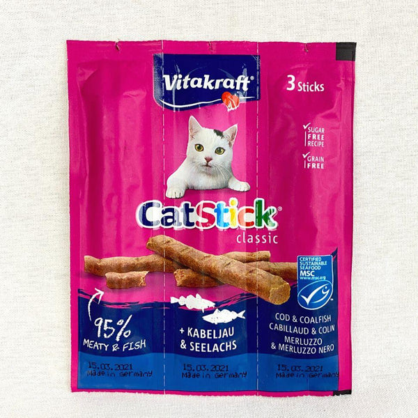 VITAKRAFT Cat stick With Salmon and Tuna 18gr Cat Snack Vitakraft