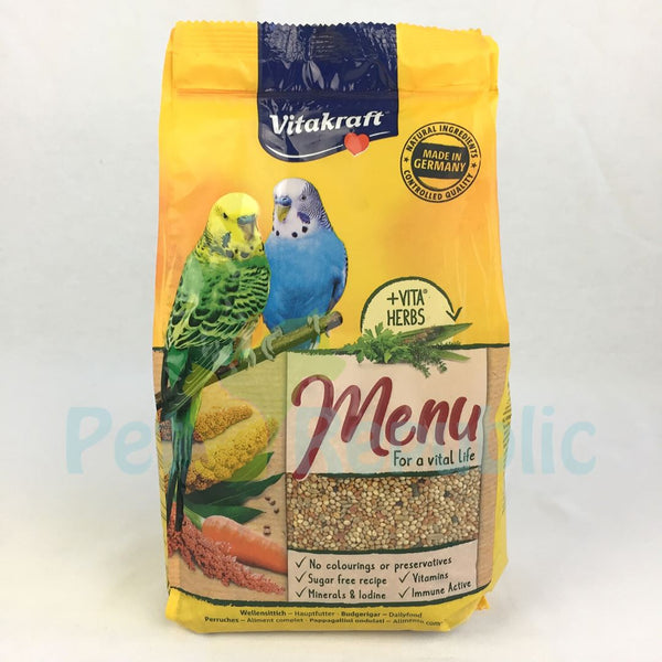 VITAKRAFT Menu Budgies 1kg - Pet Republic Jakarta