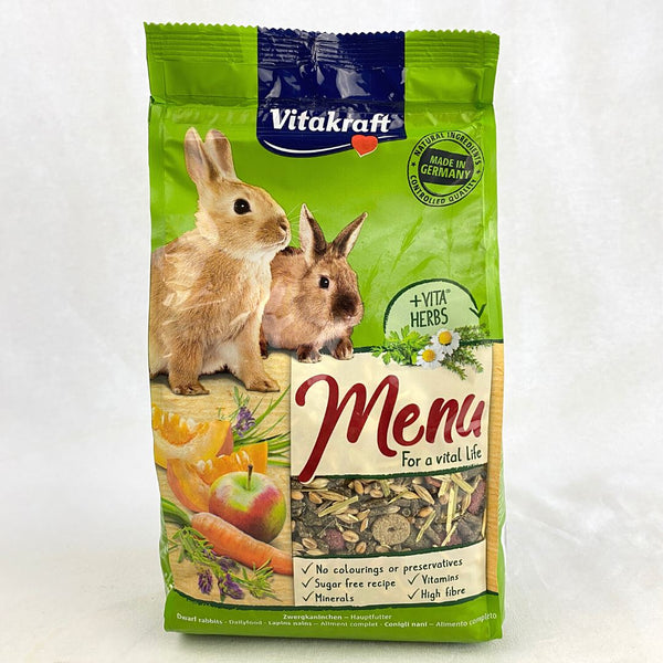 VITAKRAFT Menu Vital Rabbit 1kg Small Animal Food Vitakraft