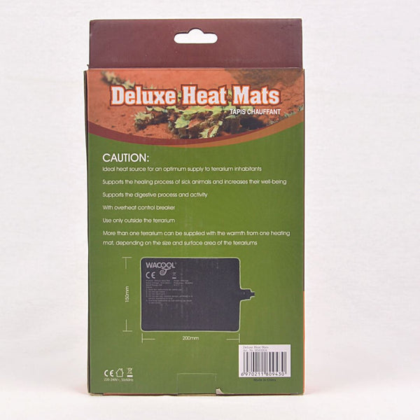 WACOOL Deluxe Heat Mats 8W Reptile Heating & Lighting Reptizoo
