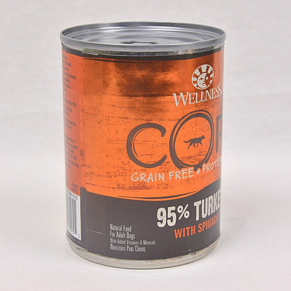 WELLNESS CORE 95% Turkey With Spinach 354g Dog Food Wet Wellness