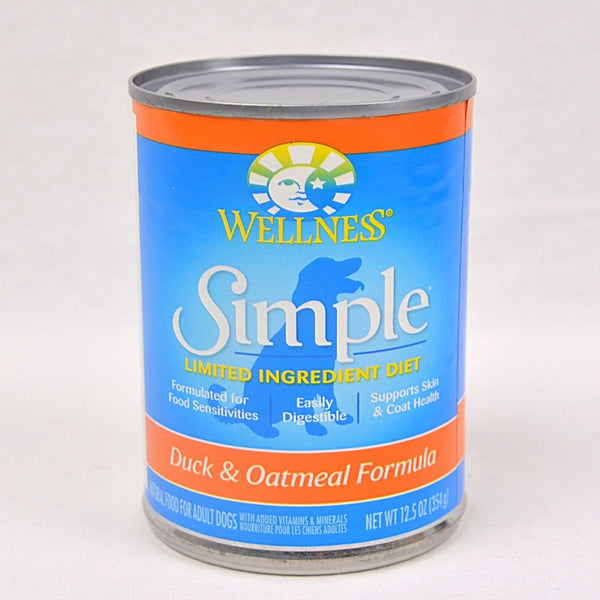 WELLNESS Simple LID Duck & Oatmeal Canned 354g Dog Food Wet Wellness