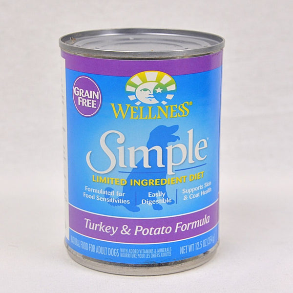 WELLNESS Simple LID Turkey & Potato Canned 354g Dog Food Wet Wellness