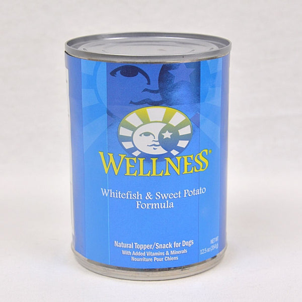 WELLNESS White Fish and Sweet Potato Canned Food 354g Dog Food Wet Wellness