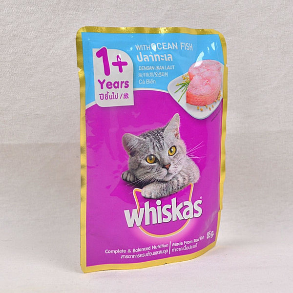 WHISKAS Pouch Ocean Fish 85gr Cat Food Wet Whiskas