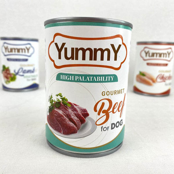 YUMMY Canned Dog Beef 375g Dog Food Wet Yummy