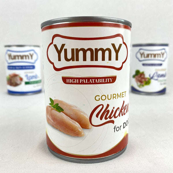 YUMMY Canned Dog Chicken 375gr Dog Food Wet Yummy