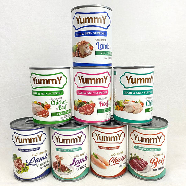 YUMMY Canned Dog Chicken Beef Vegetables 375gram Dog Food Wet Yummy