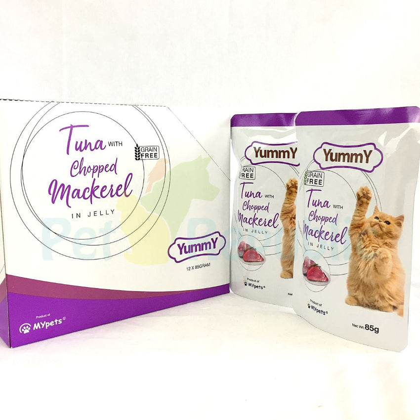 YUMMY Cat Pouch Grain Free Tuna Mackerel 85gr - Pet Republic Jakarta