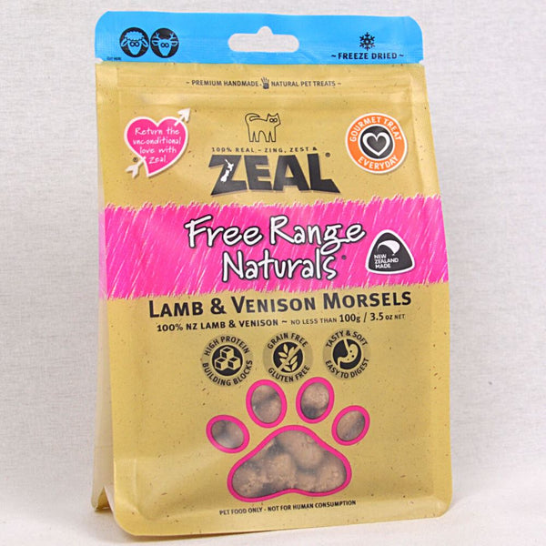 ZEAL Treat Freeze Dried Chicken and Beef Morsels 100gr Cat Snack Zeal