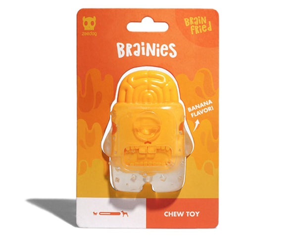 ZEEDOG Brainies BRAIN FRIED Chew Toy BANANA Dog Toy Zee Dog