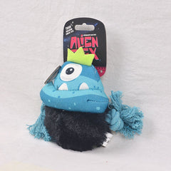 ZEEDOG Painted Canvas Toy Alien Flex KING JAMBO Dog Toy Zee Dog