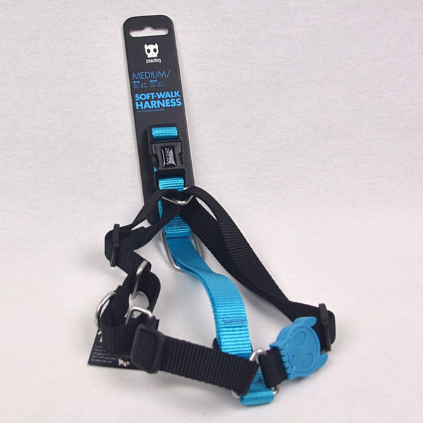 ZEEDOG Soft Walk Harness MONOBY Pet Collar and Leash Zee Dog Medium