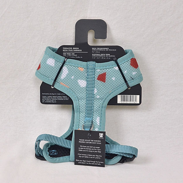 ZEEDOG Terraza Green Airmesh Harness Pet Collar and Leash Zee Dog