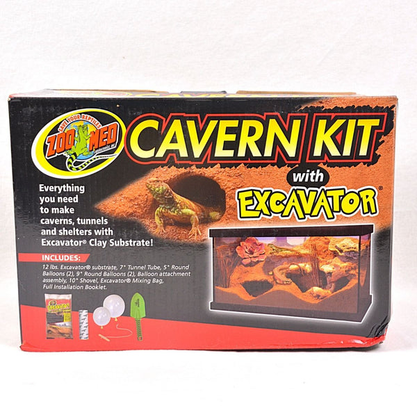 ZOOMED Cavern Kit With Excavator Sand 4,54kg Reptile Bedding Zoo med