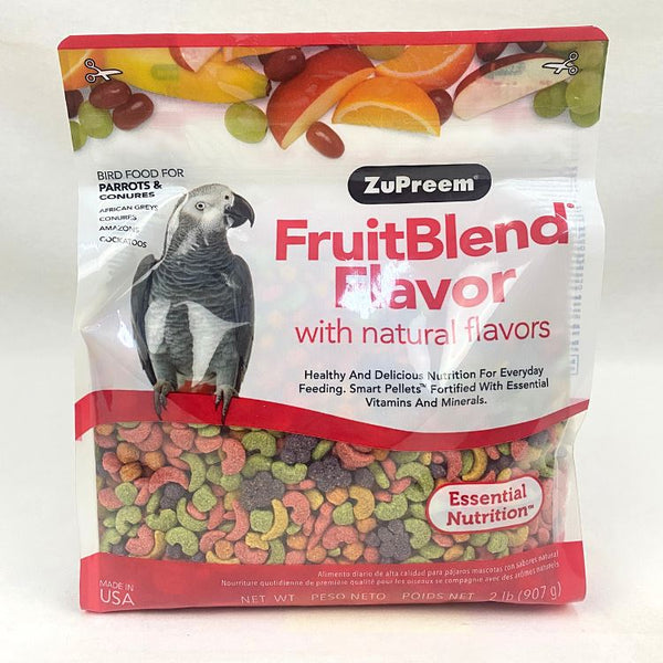 ZUPREEM Fruit Blend Flavor XSmall 907gram Bird Food Zupreem