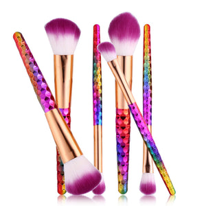6 Piece Unicorn Makeup Brushes Set