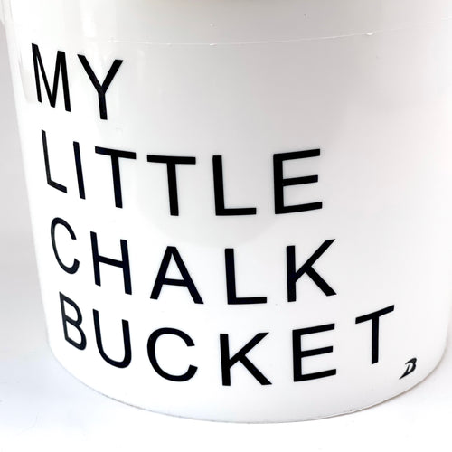 My Little Chalk Bucket, DRYbands personal chalk bucket, with handle and lid