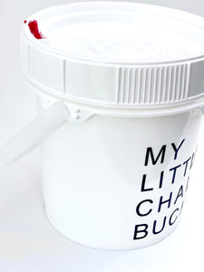 My Little Chalk Bucket, DRYbands personal chalk bucket, showing handle and lid