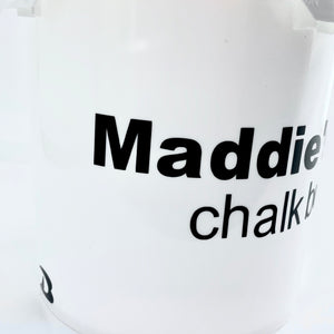 Customized Chalk Bucket, DRYbands personal chalk bucket, with handle and lid