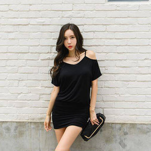 Cathy Cold Shoulder Mini Dress