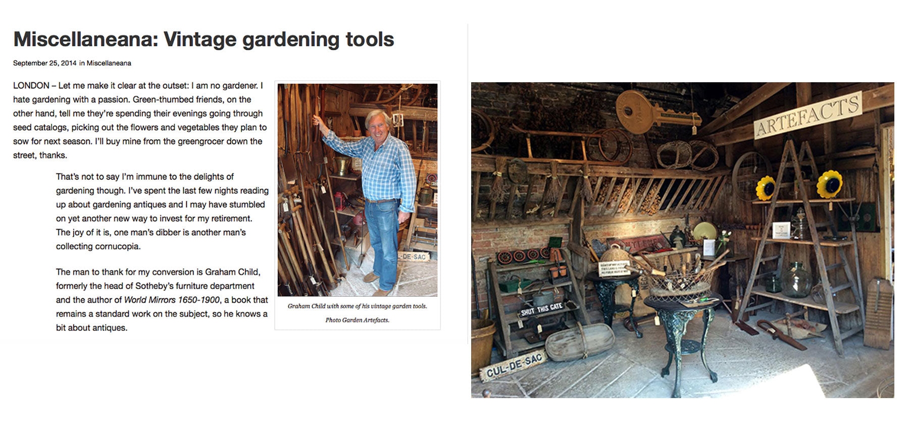 Auction Central News - Miscellaneana Vintage Gardening Tools