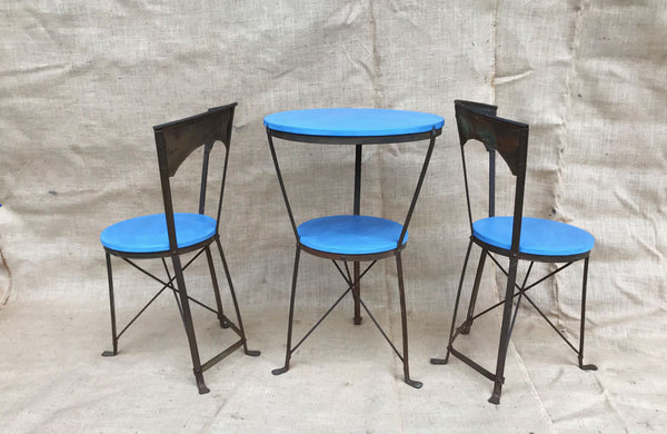 A Late 19th C French Iron Bistro Set