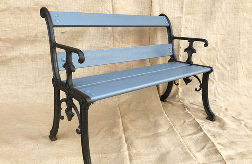 A Late 19th C Cast Iron Bench
