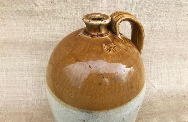 A Glazed Pottery Flagon Stamped 'Price Bristol'