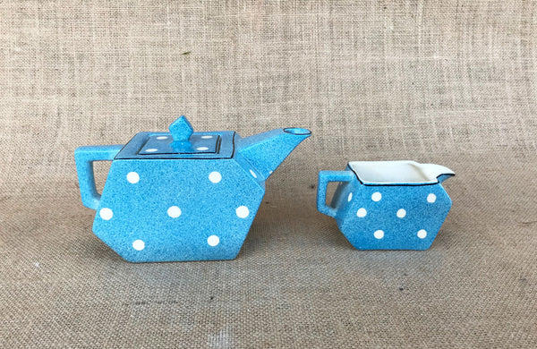 Art Deco Style Teapot and Milk Jug by Midwinter England
