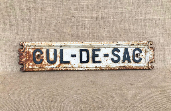 A Victorian Cast Iron Cul de Sac Sign