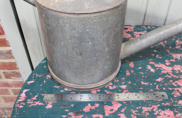 Galvanised Haws no.2 Long Reach Watering Can with Brass Rose