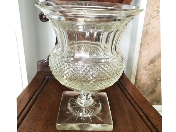Anglo Irish Regency period cut glass bowl