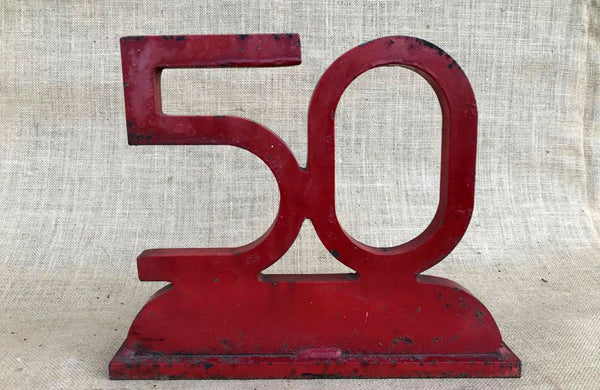 A Red Painted Iron No.50