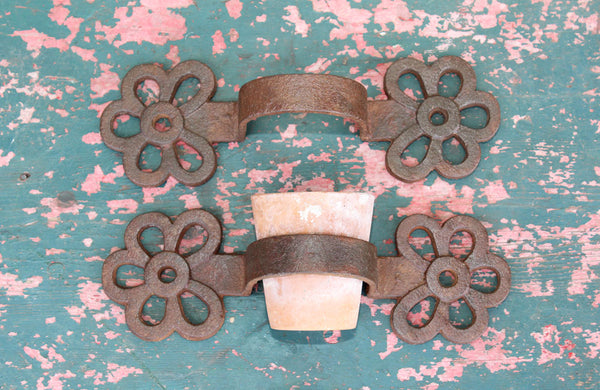 Pair of Victorian Cast Iron Plant Pot Holders