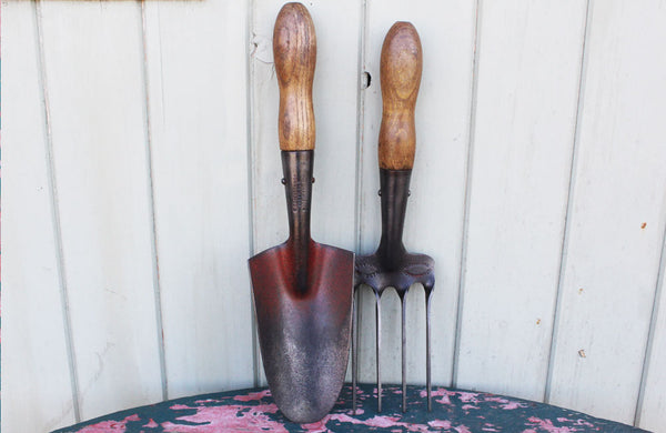 Rare Pair of Trowel and Fork by Skelton Sheffield