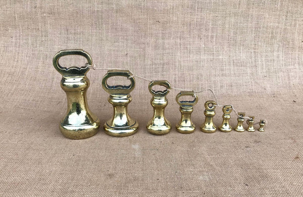 A Set of Victorian Brass Weights